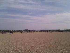 Nexus One 太極殿前の広場